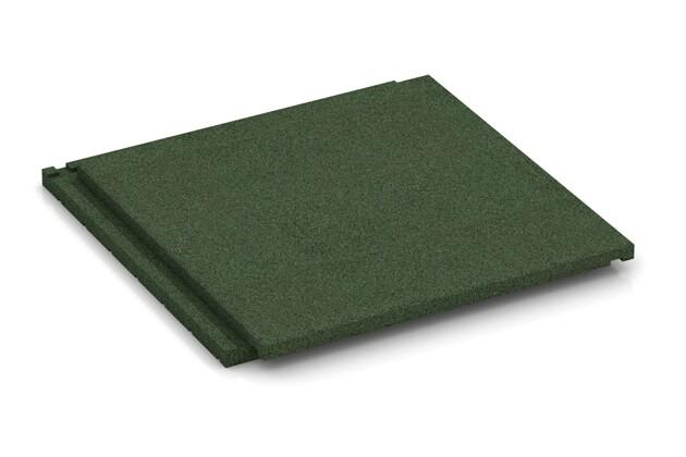Terrassenplatte von WARCO im Farbdesign grasgrün mit den Abmessungen 500 x 500 x 40 mm. Produktfoto von Artikel 1933 in der Aufsicht von schräg vorne.