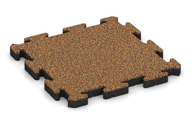 Hunde-Sportboden pro von WARCO im Farbdesign Terra Cotta mit den Abmessungen 500 x 500 x 40 mm. Produktfoto von Artikel 4019 in der Aufsicht von schräg vorne.
