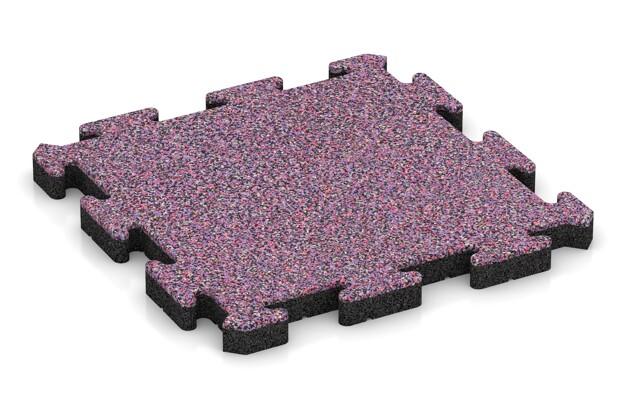 Terrassenplatte von WARCO im Farbdesign Lavendel mit den Abmessungen 500 x 500 x 40 mm. Produktfoto von Artikel 2840 in der Aufsicht von schräg vorne.