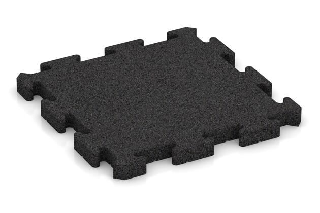 Fallschutz-Puzzlematte von WARCO im Farbdesign anthrazit mit den Abmessungen 500 x 500 x 40 mm. Produktfoto von Artikel 2960 in der Aufsicht von schräg vorne.