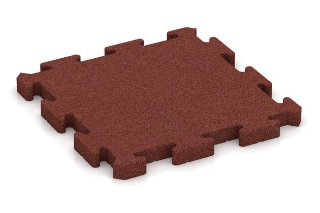 Gehwegplatte pro von WARCO im Farbdesign ziegelrot mit den Abmessungen 500 x 500 x 40 mm. Produktfoto von Artikel 2985 in der Aufsicht von schräg vorne.
