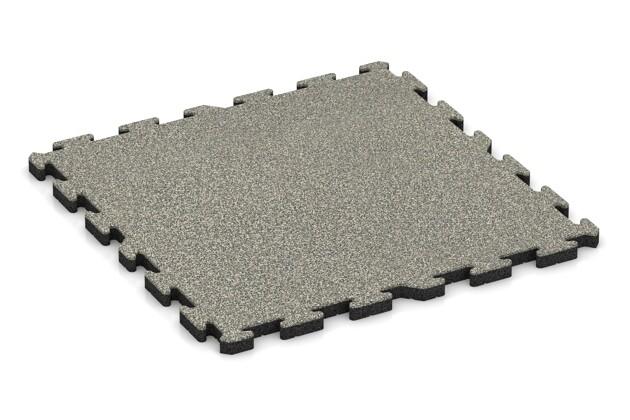 Spiel-Bodenbelag von WARCO im Farbdesign Heller Granit mit den Abmessungen 1000 x 1000 x 40 mm. Produktfoto von Artikel 3380 in der Aufsicht von schräg vorne.