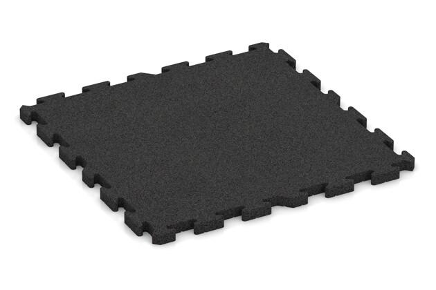 Fitness-Bodenschutzmatte pro von WARCO im Farbdesign anthrazit mit den Abmessungen 1000 x 1000 x 40 mm. Produktfoto von Artikel 3481 in der Aufsicht von schräg vorne.