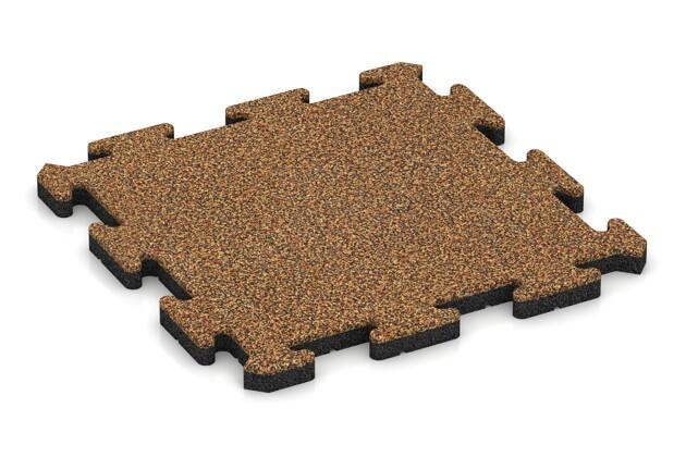 Hunde-Sportboden pro von WARCO im Farbdesign Terra Cotta mit den Abmessungen 500 x 500 x 30 mm. Produktfoto von Artikel 2701 in der Aufsicht von schräg vorne.