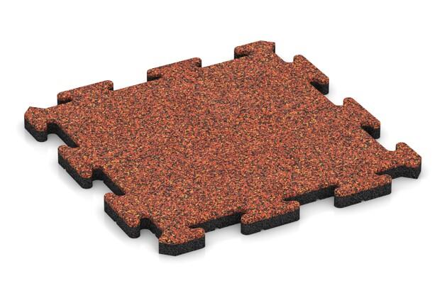Terrassenplatte pro von WARCO im Farbdesign Feuersglut mit den Abmessungen 500 x 500 x 30 mm. Produktfoto von Artikel 2647 in der Aufsicht von schräg vorne.