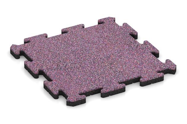 Gehwegplatte pro von WARCO im Farbdesign Lavendel mit den Abmessungen 500 x 500 x 30 mm. Produktfoto von Artikel 2690 in der Aufsicht von schräg vorne.