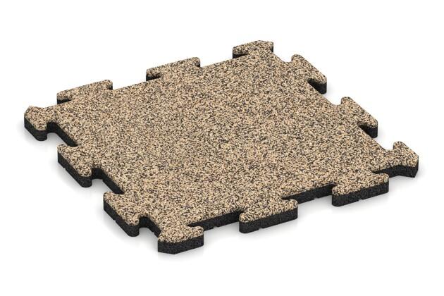 Hundematte von WARCO im Farbdesign Travertin mit den Abmessungen 500 x 500 x 30 mm. Produktfoto von Artikel 2677 in der Aufsicht von schräg vorne.