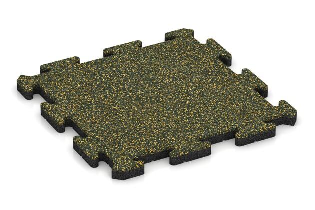 Terrassenplatte von WARCO im Farbdesign Löwenzahn mit den Abmessungen 500 x 500 x 30 mm. Produktfoto von Artikel 2618 in der Aufsicht von schräg vorne.