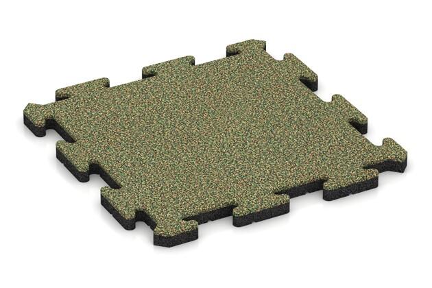 Hundematte von WARCO im Farbdesign Savanne mit den Abmessungen 500 x 500 x 30 mm. Produktfoto von Artikel 2681 in der Aufsicht von schräg vorne.