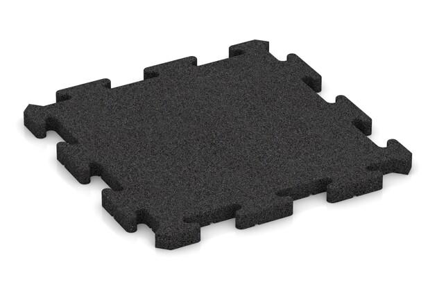 Fallschutz-Puzzlematte von WARCO im Farbdesign anthrazit mit den Abmessungen 500 x 500 x 30 mm. Produktfoto von Artikel 2767 in der Aufsicht von schräg vorne.