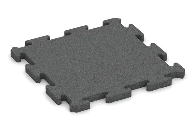 Fallschutz-Puzzlematte von WARCO im Farbdesign schiefergrau mit den Abmessungen 500 x 500 x 30 mm. Produktfoto von Artikel 2770 in der Aufsicht von schräg vorne.