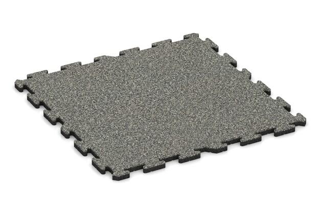 Spiel-Bodenbelag von WARCO im Farbdesign Grauer Granit mit den Abmessungen 1000 x 1000 x 30 mm. Produktfoto von Artikel 3213 in der Aufsicht von schräg vorne.