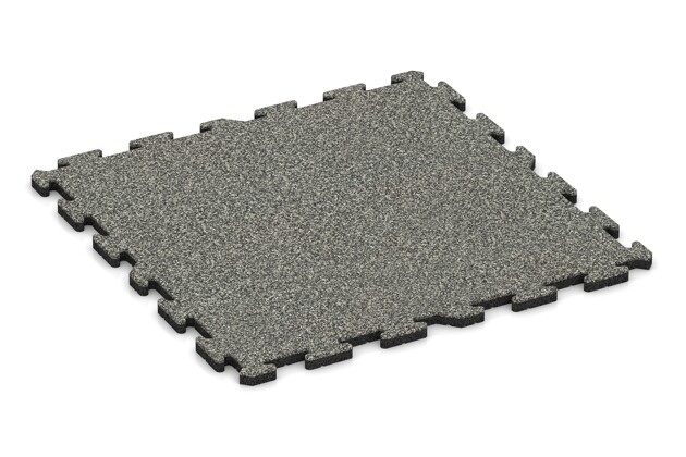 Terrassenbelag pro von WARCO im Farbdesign Grauer Granit mit den Abmessungen 1000 x 1000 x 30 mm. Produktfoto von Artikel 3241 in der Aufsicht von schräg vorne.