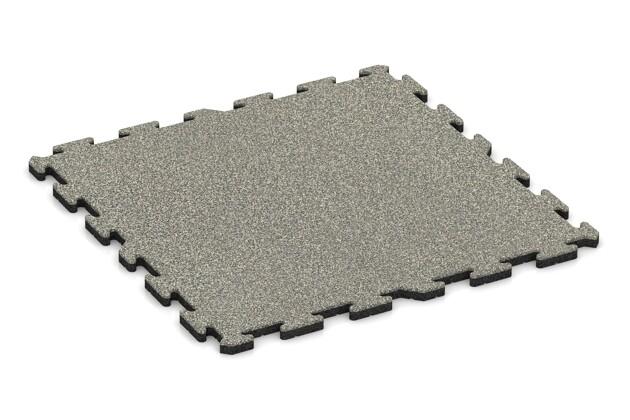 Spiel-Bodenbelag von WARCO im Farbdesign Heller Granit mit den Abmessungen 1000 x 1000 x 30 mm. Produktfoto von Artikel 3214 in der Aufsicht von schräg vorne.