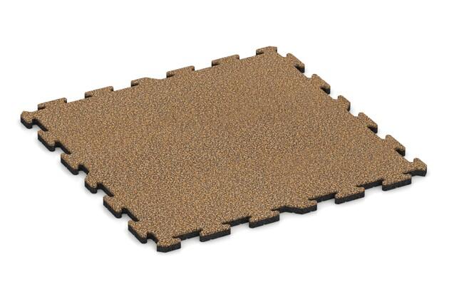 Hunde-Sportboden pro von WARCO im Farbdesign Rattan Lounge mit den Abmessungen 1000 x 1000 x 30 mm. Produktfoto von Artikel 3295 in der Aufsicht von schräg vorne.
