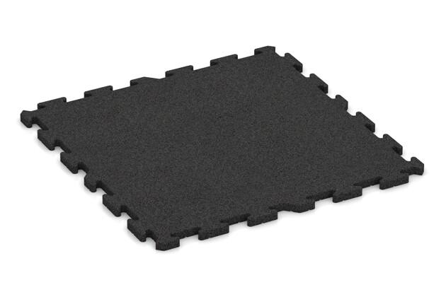 Fitness-Bodenschutzmatte pro von WARCO im Farbdesign anthrazit mit den Abmessungen 1000 x 1000 x 30 mm. Produktfoto von Artikel 3330 in der Aufsicht von schräg vorne.