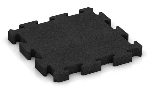 Fitness-Bodenschutzmatte pro von WARCO im Farbdesign anthrazit mit den Abmessungen 500 x 500 x 50 mm. Produktfoto von Artikel 3168 in der Aufsicht von schräg vorne.