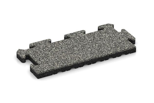 Rand-Abschlussplatte (Zuschnitt) von WARCO im Farbdesign Grauer Granit mit den Abmessungen 500 x 235 x 30 mm. Produktfoto von Artikel 4859 in der Aufsicht von schräg vorne.