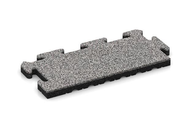 Rand-Abschlussplatte (Zuschnitt) von WARCO im Farbdesign Graue Melange mit den Abmessungen 500 x 235 x 30 mm. Produktfoto von Artikel 4847 in der Aufsicht von schräg vorne.