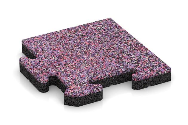 Eck-Abschlussplatte (Zuschnitt) von WARCO im Farbdesign Lavendel mit den Abmessungen 235 x 235 x 30 mm. Produktfoto von Artikel 4870 in der Aufsicht von schräg vorne.