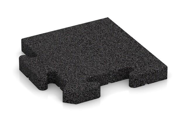 Eck-Abschlussplatte pro (Zuschnitt) von WARCO im Farbdesign anthrazit mit den Abmessungen 235 x 235 x 30 mm. Produktfoto von Artikel 4916 in der Aufsicht von schräg vorne.
