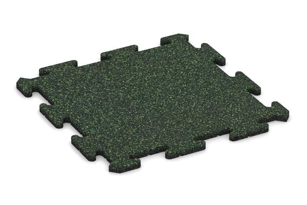 Fallschutz-Treppenbelag pro von WARCO im Farbdesign Englischer Rasen mit den Abmessungen 500 x 500 x 18 mm. Produktfoto von Artikel 0113 in der Aufsicht von schräg vorne.