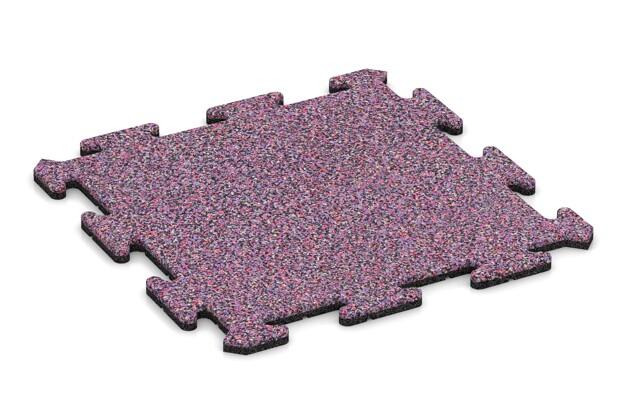 Fallschutz-Treppenbelag pro von WARCO im Farbdesign Lavendel mit den Abmessungen 500 x 500 x 18 mm. Produktfoto von Artikel 0117 in der Aufsicht von schräg vorne.
