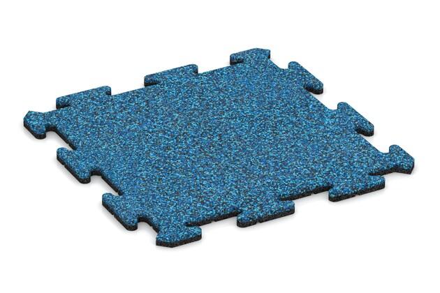 Fallschutz-Treppenbelag pro von WARCO im Farbdesign Atlantik mit den Abmessungen 500 x 500 x 18 mm. Produktfoto von Artikel 0120 in der Aufsicht von schräg vorne.