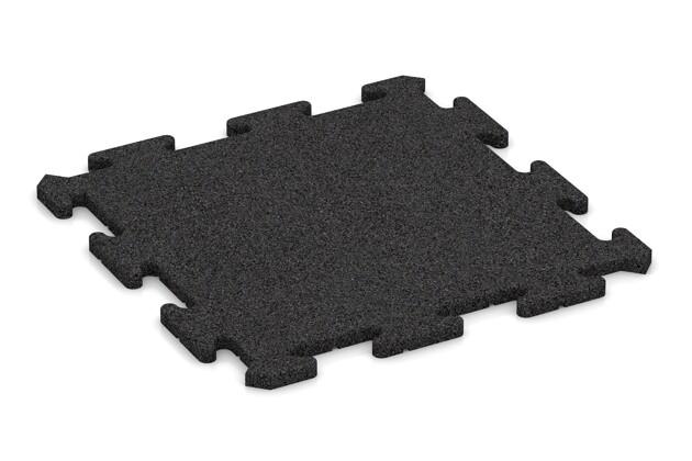 Fallschutz-Treppenbelag pro von WARCO im Farbdesign anthrazit mit den Abmessungen 500 x 500 x 18 mm. Produktfoto von Artikel 0182 in der Aufsicht von schräg vorne.