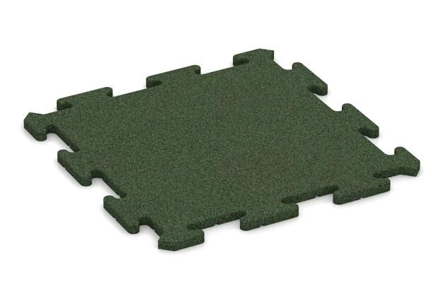 Fallschutz-Treppenbelag pro von WARCO im Farbdesign grasgrün mit den Abmessungen 500 x 500 x 18 mm. Produktfoto von Artikel 0184 in der Aufsicht von schräg vorne.