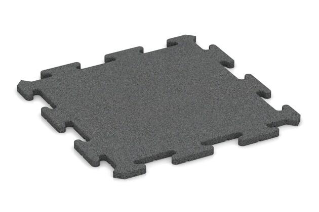 Fallschutz-Treppenbelag pro von WARCO im Farbdesign schiefergrau mit den Abmessungen 500 x 500 x 18 mm. Produktfoto von Artikel 0185 in der Aufsicht von schräg vorne.