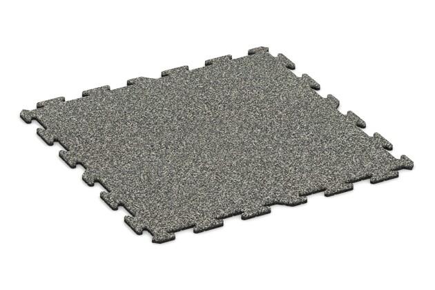 Fallschutz-Treppenbelag pro von WARCO im Farbdesign Grauer Granit mit den Abmessungen 1000 x 1000 x 18 mm. Produktfoto von Artikel 0273 in der Aufsicht von schräg vorne.