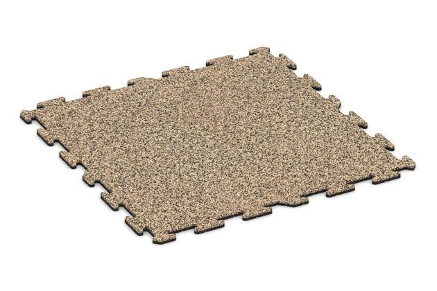 Hundematte von WARCO im Farbdesign Travertin mit den Abmessungen 1000 x 1000 x 18 mm. Produktfoto von Artikel 3933 in der Aufsicht von schräg vorne.