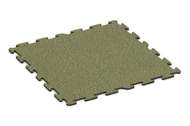 Spielmatte von WARCO im Farbdesign Savanne mit den Abmessungen 1000 x 1000 x 18 mm. Produktfoto von Artikel 0214 in der Aufsicht von schräg vorne.