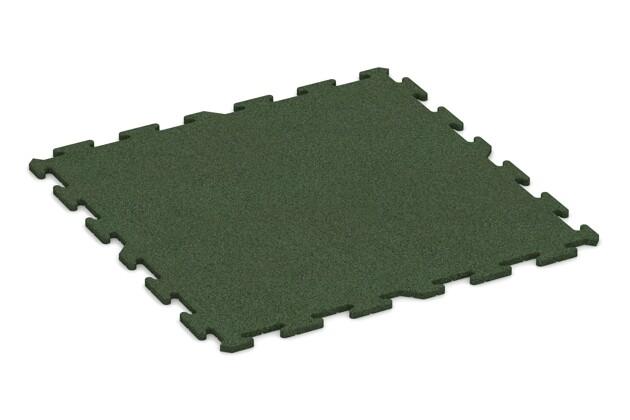 Spielmatte von WARCO im Farbdesign grasgrün mit den Abmessungen 1000 x 1000 x 18 mm. Produktfoto von Artikel 0330 in der Aufsicht von schräg vorne.