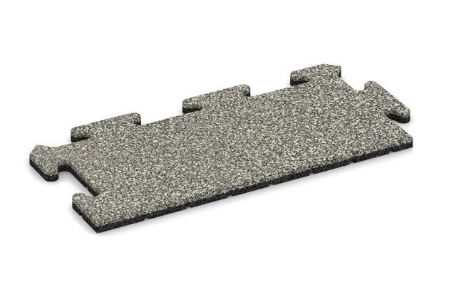 Rand-Abschlussplatte (2 Stück) von WARCO im Farbdesign Heller Granit mit den Abmessungen 500 x 235 x 18 mm. Produktfoto von Artikel 4691 in der Aufsicht von schräg vorne.