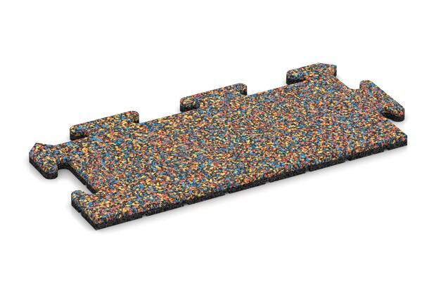 Rand-Abschlussplatte (2 Stück) von WARCO im Farbdesign Papagei mit den Abmessungen 500 x 235 x 18 mm. Produktfoto von Artikel 4695 in der Aufsicht von schräg vorne.