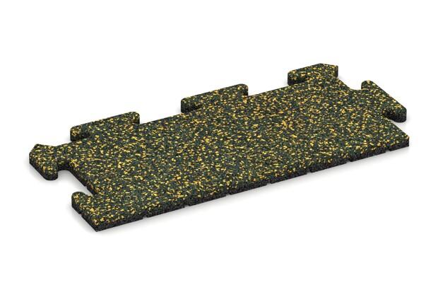 Rand-Abschlussplatte pro (2 Stück) von WARCO im Farbdesign Löwenzahn mit den Abmessungen 500 x 235 x 18 mm. Produktfoto von Artikel 4722 in der Aufsicht von schräg vorne.