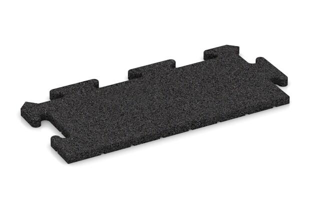 Rand-Abschlussplatte pro (2 Stück) von WARCO im Farbdesign Schwarz mit den Abmessungen 500 x 235 x 18 mm. Produktfoto von Artikel 4679 in der Aufsicht von schräg vorne.