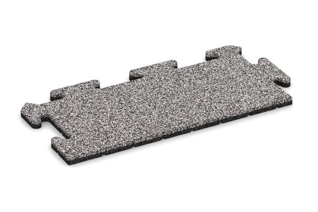 Rand-Abschlussplatte pro (Zuschnitt) von WARCO im Farbdesign Graue Melange mit den Abmessungen 500 x 235 x 18 mm. Produktfoto von Artikel 4683 in der Aufsicht von schräg vorne.
