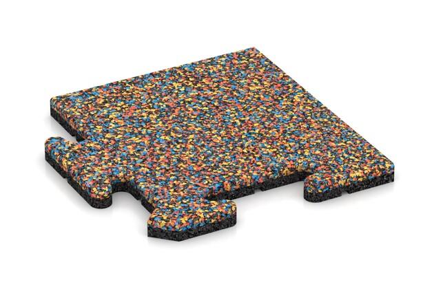 Eck-Abschlussplatte (4 Stück) von WARCO im Farbdesign Papagei mit den Abmessungen 235 x 235 x 18 mm. Produktfoto von Artikel 4707 in der Aufsicht von schräg vorne.