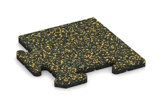 Eck-Abschlussplatte pro (Zuschnitt) von WARCO im Farbdesign Löwenzahn mit den Abmessungen 235 x 235 x 18 mm. Produktfoto von Artikel 4736 in der Aufsicht von schräg vorne.