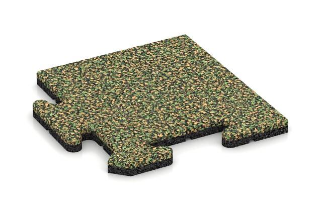 Eck-Abschlussplatte pro (Zuschnitt) von WARCO im Farbdesign Savanne mit den Abmessungen 235 x 235 x 18 mm. Produktfoto von Artikel 4732 in der Aufsicht von schräg vorne.