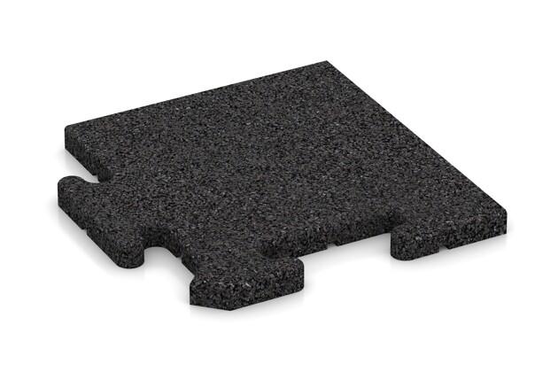 Eck-Abschlussplatte (Zuschnitt) von WARCO im Farbdesign anthrazit mit den Abmessungen 235 x 235 x 18 mm. Produktfoto von Artikel 4810 in der Aufsicht von schräg vorne.