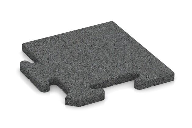 Eck-Abschlussplatte pro (4 Stück) von WARCO im Farbdesign schiefergrau mit den Abmessungen 235 x 235 x 18 mm. Produktfoto von Artikel 4822 in der Aufsicht von schräg vorne.