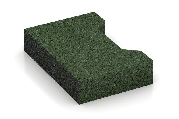 Verbundpflaster-Anfänger von WARCO im Farbdesign grasgrün mit den Abmessungen 200 x 140 x 43 mm. Produktfoto von Artikel 3572 in der Aufsicht von schräg vorne.