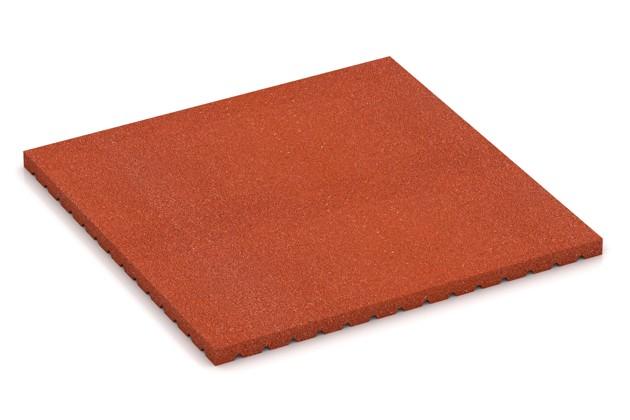 Pferde-Boxenmatte von WARCO im Farbdesign ziegelrot mit den Abmessungen 1000 x 1000 x 43 mm. Produktfoto von Artikel 3649 in der Aufsicht von schräg vorne.