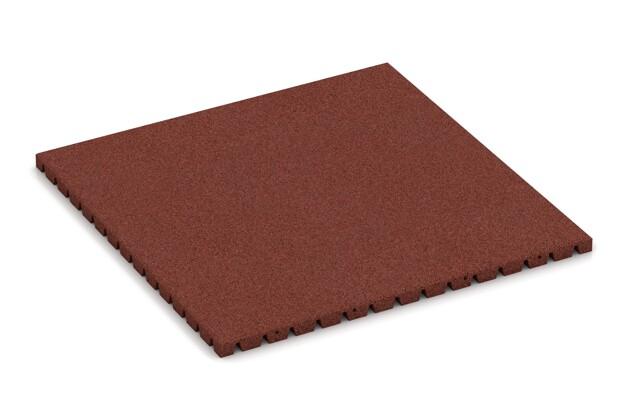 Fallschutzmatte von WARCO im Farbdesign ziegelrot mit den Abmessungen 1000 x 1000 x 40 mm. Produktfoto von Artikel 0805 in der Aufsicht von schräg vorne.