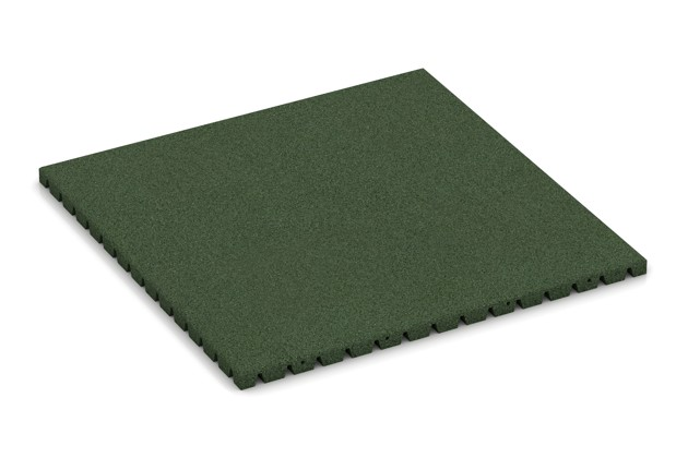 Hunde-Liegematte von WARCO im Farbdesign grasgrün mit den Abmessungen 1000 x 1000 x 40 mm. Produktfoto von Artikel 3991 in der Aufsicht von schräg vorne.