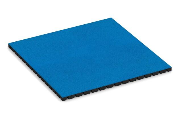 Fallschutzmatte von WARCO im Farbdesign Himmelblau mit den Abmessungen 1000 x 1000 x 40 mm. Produktfoto von Artikel 0792 in der Aufsicht von schräg vorne.